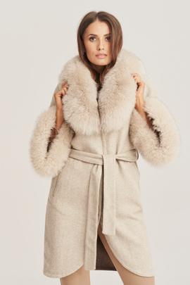 Dámský kabát z alpaky