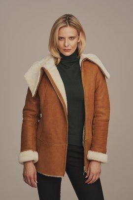 Kožíšek dámský - Zimní kožená bunda dámská