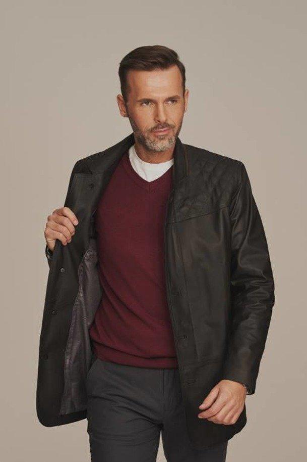 Pánská kožená bunda