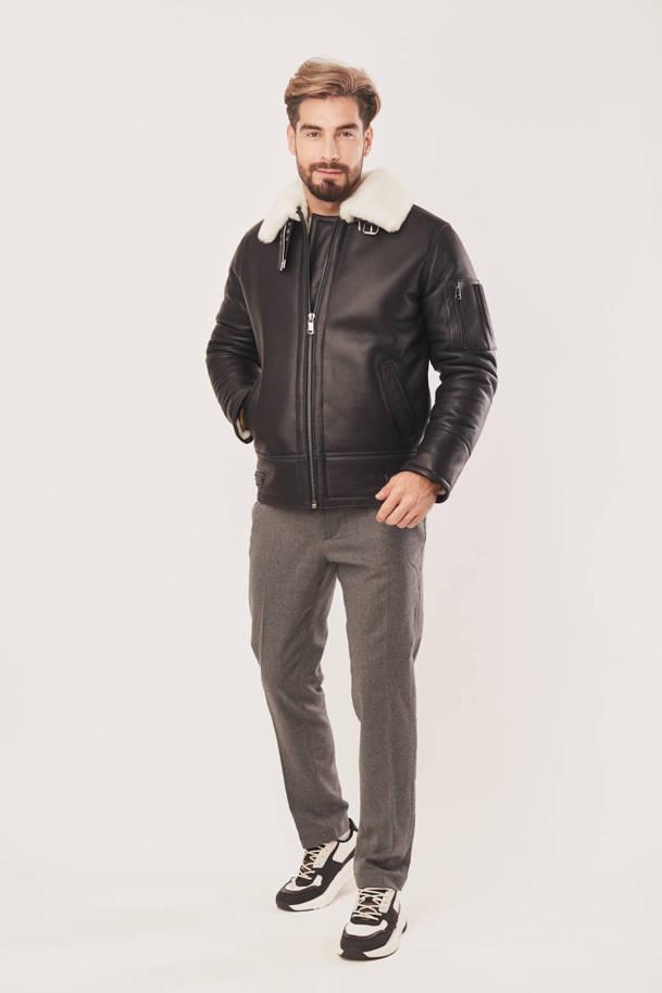 Pánský dubeňák - Kožená bunda pilotka pánská