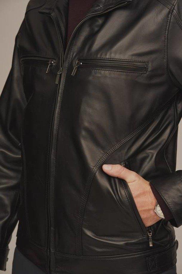 Black leather jacket mens