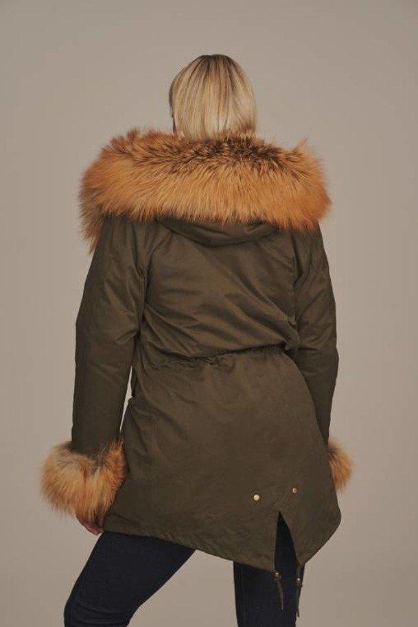 Womens parka coat with fur hood