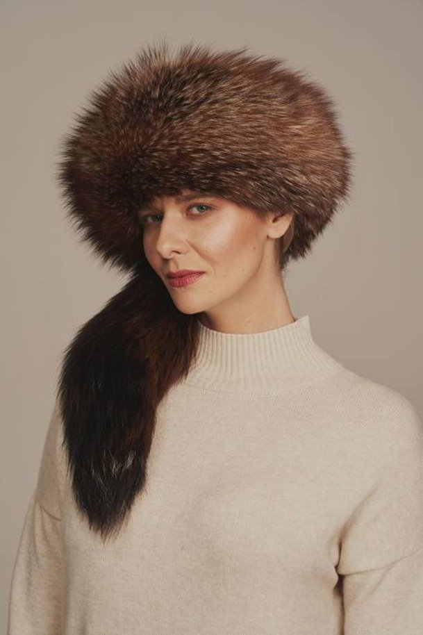 Women's real fox fur hat
