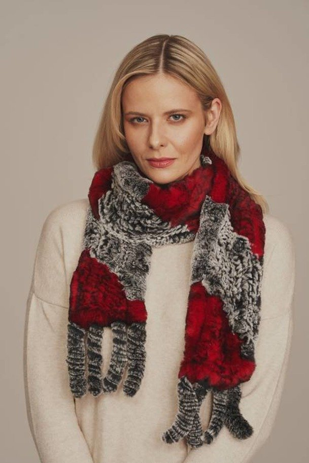 Women's real fur scarf
