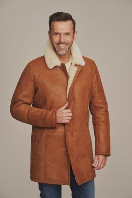 Kożuch męski zimowy - Płaszcz męski z kożuchem