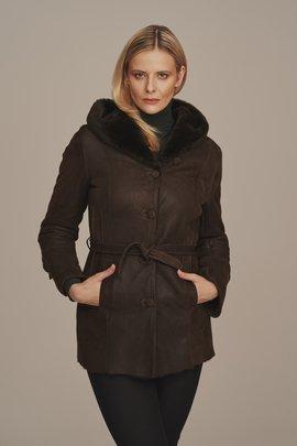 Dámska zimná bunda s kožušinou Prírodná ovčia koža