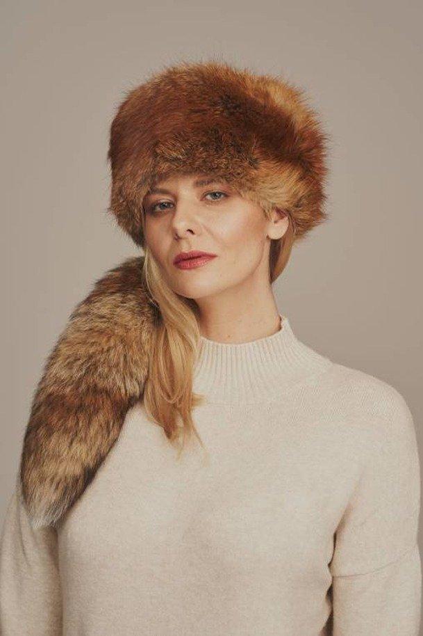 Elegantná dámska zimná čiapka z pravej kožušiny