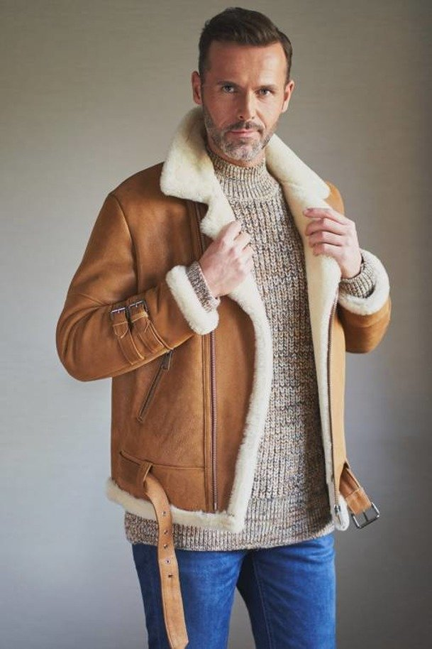 Pánska zimná bunda - Pánsky kožuch