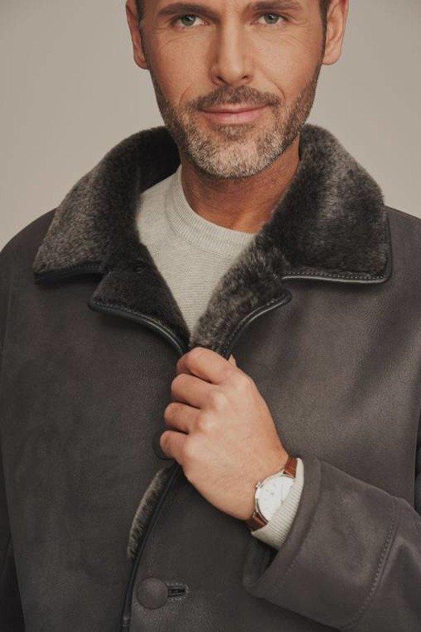 Pánsky zimný kožený kabát - Pánsky kožuch